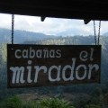 Cabañas el Mirador overlooking the mountains