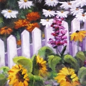 Flowers at the Fence by Ruth Bolotin