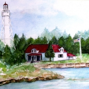Lighthouse Sturgeon Bay Door County, WI, by Ed Willer