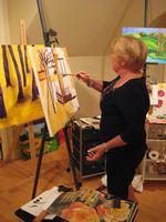 Laurie in her studio